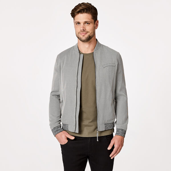 PADSTOW CASUAL JACKET, Black/White, hi-res