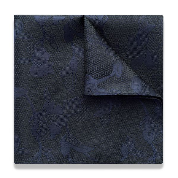 BARZIO POCKET SQUARE, Navy, hi-res