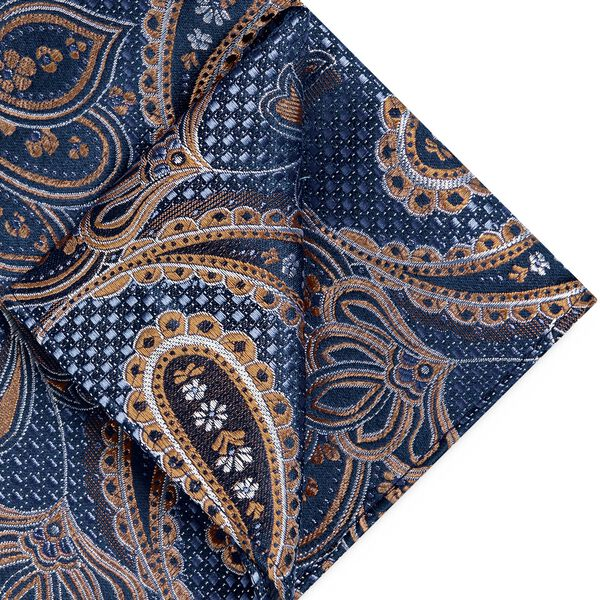 BYRAN POCKET SQUARE, Tan, hi-res