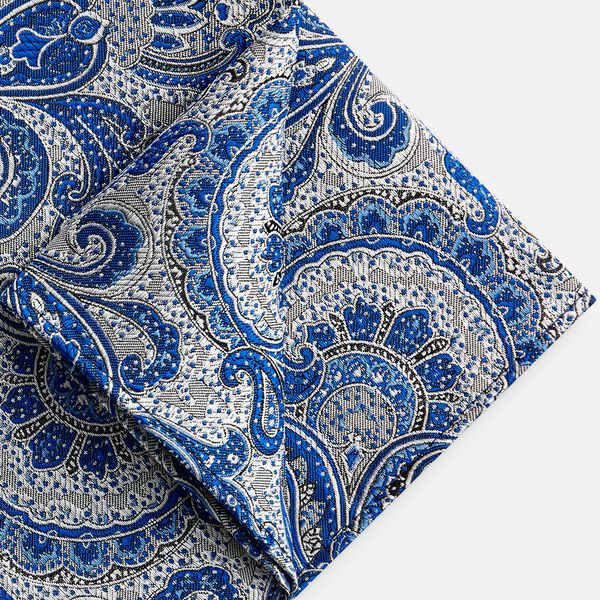 PIRAGO POCKET SQUARE, Blue, hi-res