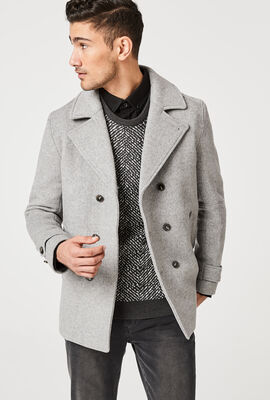 REVESBY PEACOAT, Light Grey, hi-res