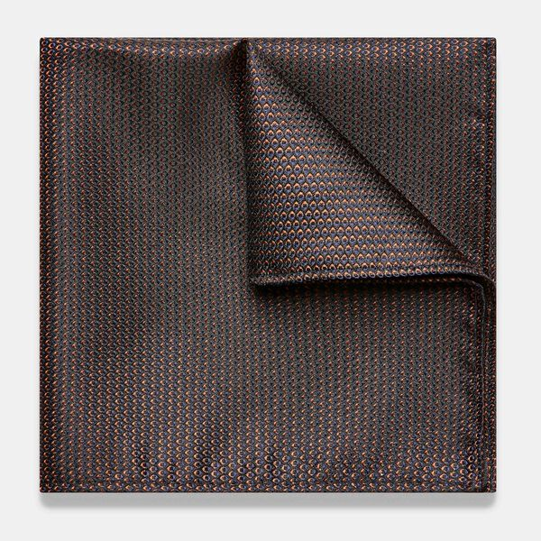 LISSARO POCKET SQUARE, Bronze, hi-res