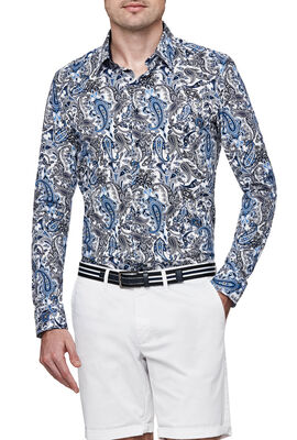 SERINI SHIRT, White/Navy, hi-res