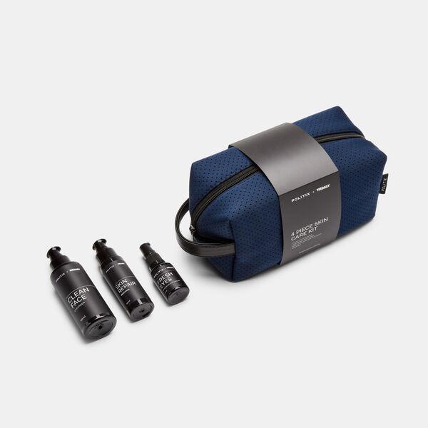 4 Piece Skin Care Kit, Blue/Black, hi-res