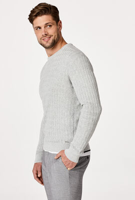 BUNDY KNITWEAR, Light Grey, hi-res