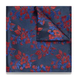 TARSIA POCKET SQUARE, Red, hi-res