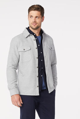 RUSHWORTH SHIRT, Light Grey Marle, hi-res