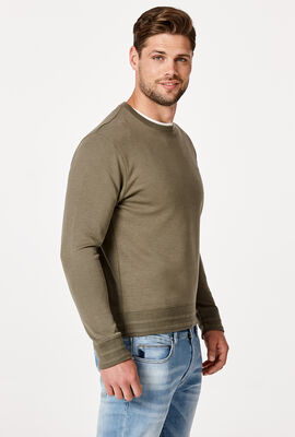 LOGO SWEATER, Light Khaki, hi-res