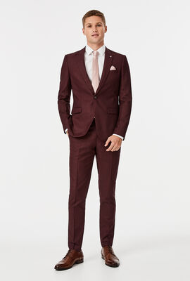 Weir Suit Pant, Burgundy, hi-res