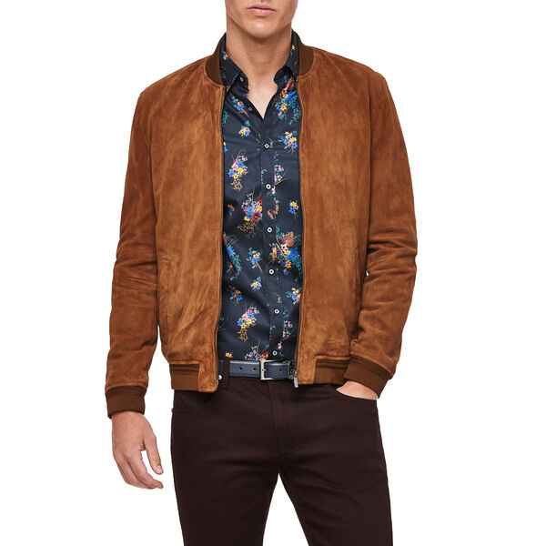 Bronte Leather Jacket, Tan, hi-res