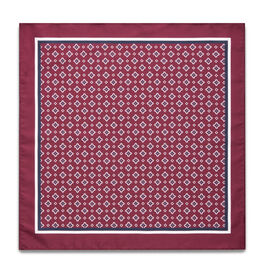 LIVELLI POCKET SQUARE, Burgundy, hi-res