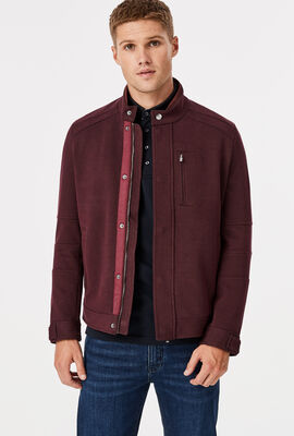 Frankston Casual Jacket, Burgundy, hi-res