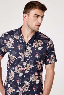 PENDRAGON SHORT SLEEVE SHIRT, Navy/Multi, hi-res