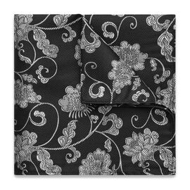 AVISIO POCKET SQUARE, Black/White, hi-res