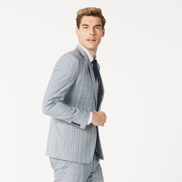 MOTTINHAM SUIT JACKET, Aqua/Check, hi-res