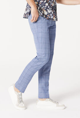 LYNDEN SUIT PANT, Blue Windowpane, hi-res