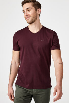 LOMASO T-SHIRT, Dark Burgundy, hi-res