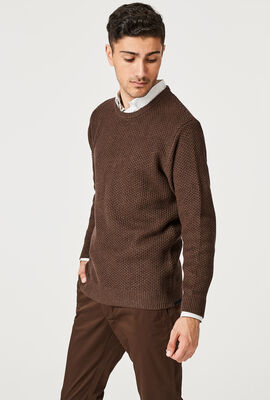 HONEY KNITWEAR, Brown Marle, hi-res