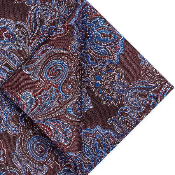 FARNETO POCKET SQUARE, Red, hi-res