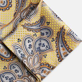 BYRAN POCKET SQUARE, Yellow, hi-res