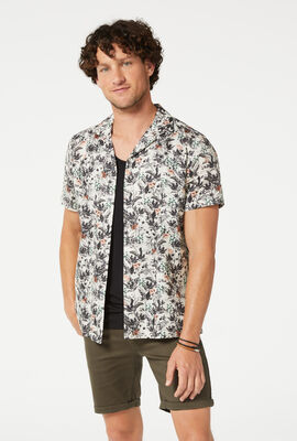 REVINE SHORT SLEEVE SHIRT, Sand/Black, hi-res