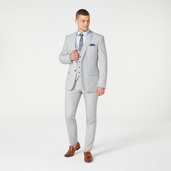 Eastcote Suit Pant, Grey Windowpane, hi-res