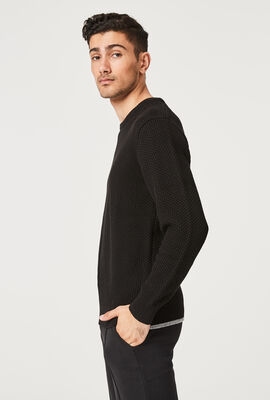 HONEY KNITWEAR, Black, hi-res