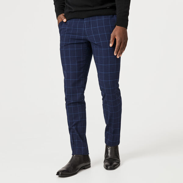 Jonnathan Tailored Pant, Navy Windowpane, hi-res