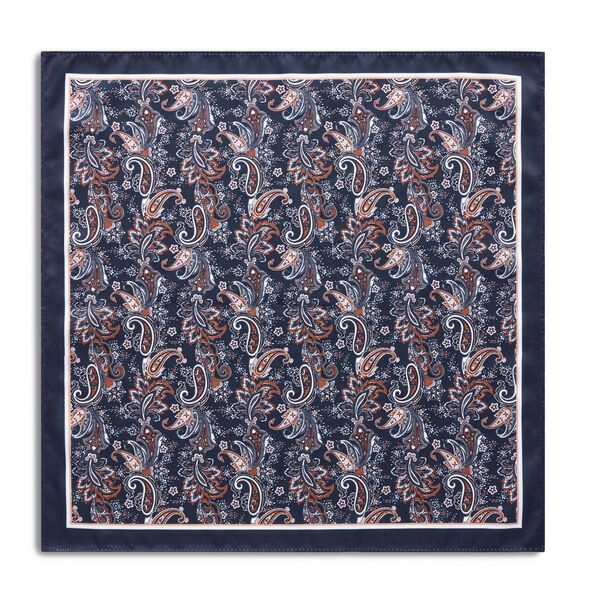 ALLARO POCKET SQUARE, Navy, hi-res