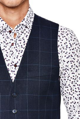 NOVELE, Navy Windowpane, hi-res