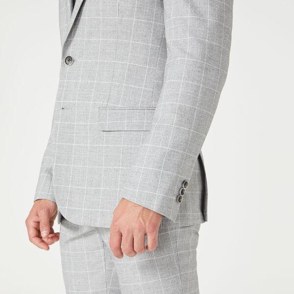 Dallington Suit Jacket, Grey Windowpane, hi-res