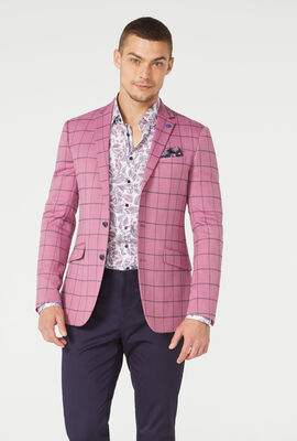 SOUTHWICK SUIT JACKET, Pink/Windowpane, hi-res