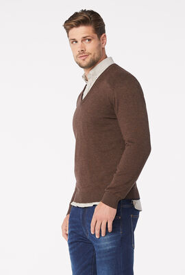 PENROSE KNITWEAR, Brown Marle, hi-res