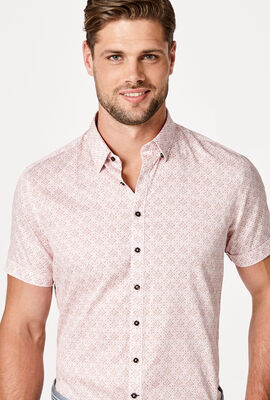 SMITS SHORT SLEEVE SHIRT, White/Pink, hi-res