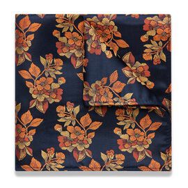TARSIA POCKET SQUARE, Orange, hi-res