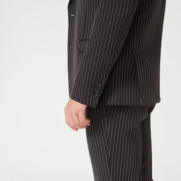 NORTHOLT SUIT JACKET, Black/Pinstripe, hi-res