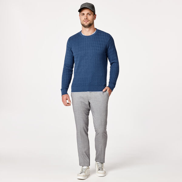 Bundy Crew Neck Jumper, Smoke Blue, hi-res