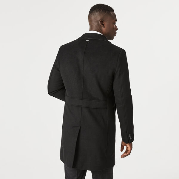 Willetton Overcoat, Black, hi-res