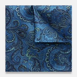 PIRAGO POCKET SQUARE, Navy, hi-res