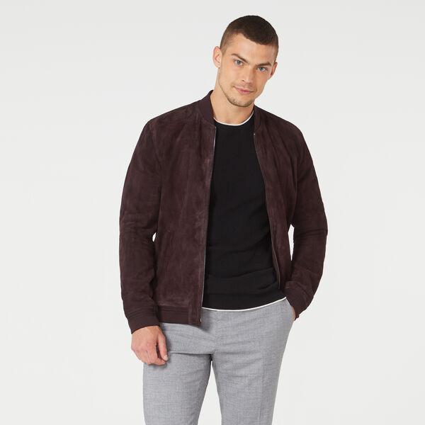 Bronte Leather Jacket, Burgundy, hi-res