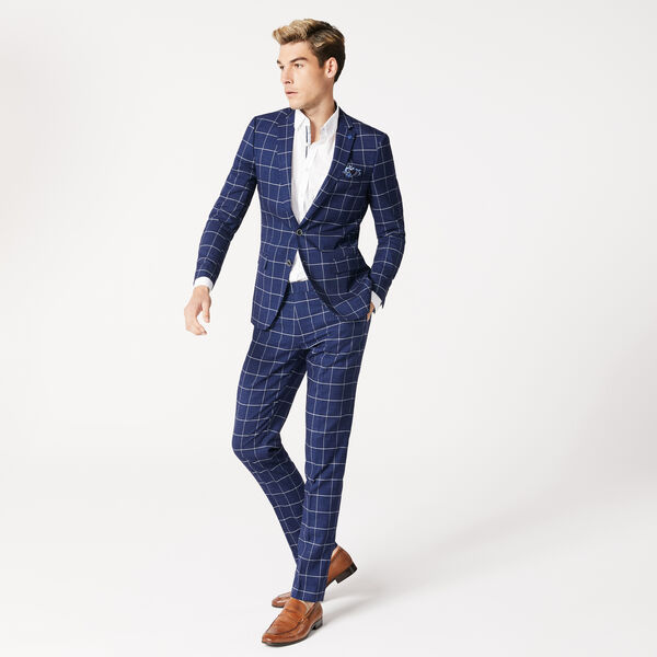 NORTHBOURNE, Navy Windowpane, hi-res