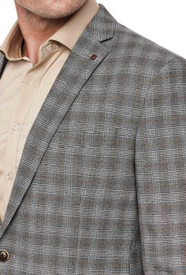Claredale, Grey Tan Check, hi-res