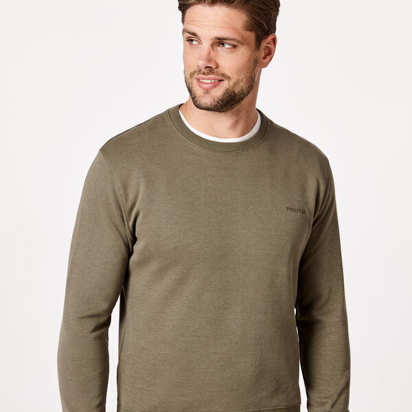 Logo Crew Neck Jumper, Light Khaki, hi-res