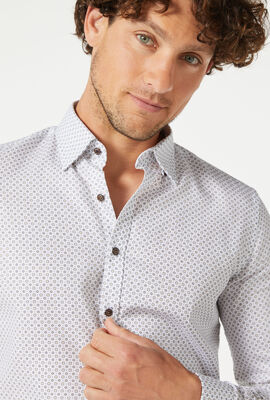ELLERSLIE SHIRT, White/Navy, hi-res