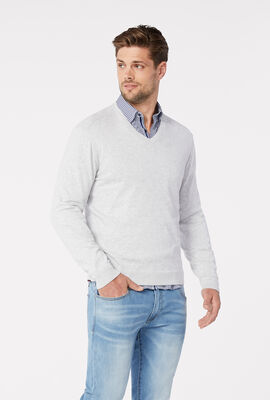 PENROSE KNITWEAR, Light Grey, hi-res