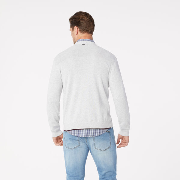 Penrose V Neck Jumper, Light Grey, hi-res