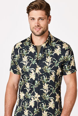 KILDA SHORT SLEEVE SHIRT, Navy/Multi, hi-res