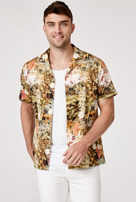 FANTASY SHORT SLEEVE SHIRT, Multi Floral, hi-res