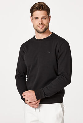 LOGO SWEATER, Black, hi-res