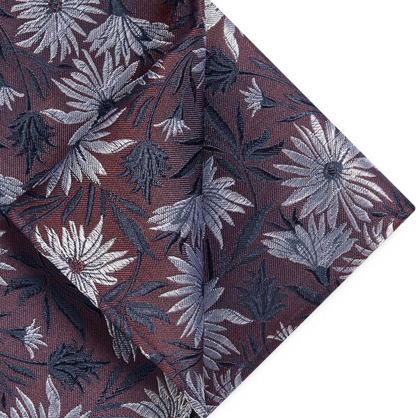 ALINO POCKET SQUARE, Burgundy, hi-res